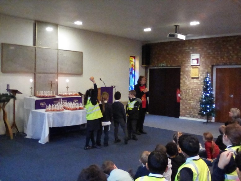 School in for Christingle